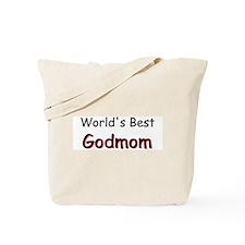 Worlds Best Godmom Tote Bag