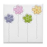 Summer Flowers Tile Coaster