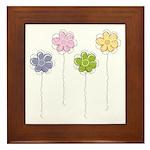 Summer Flowers Framed Tile