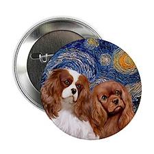 "Starry/2 Cavalier (Bl+R) 2.25"" Button"