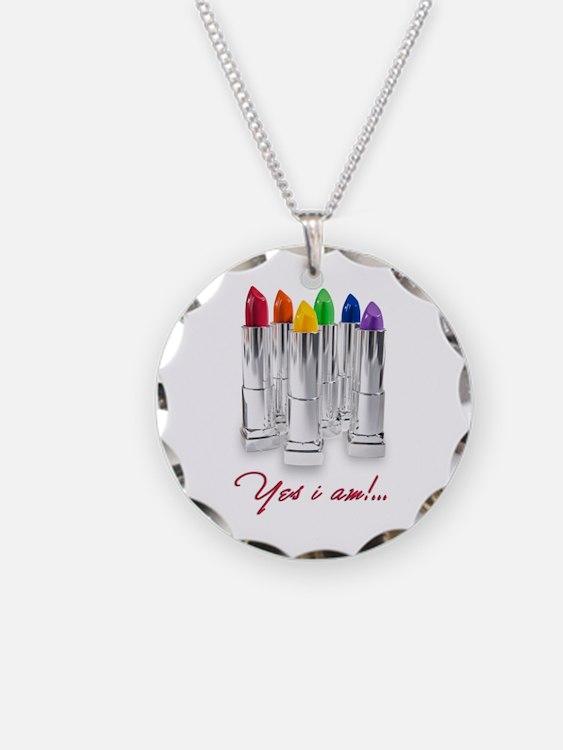 lipstick lesbian Necklace