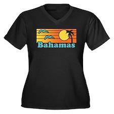 Bahamas Women's Plus Size V-Neck Dark T-Shirt