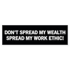 Spread Work Ethic - Herman Cain Bumper Bumper Sticker