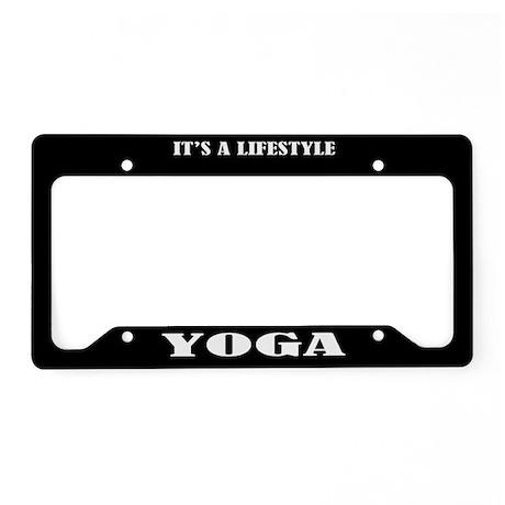 Yoga Gift License Plate Holder Frame