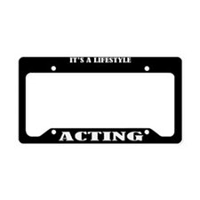 Acting Gift License Plate Holder Frame