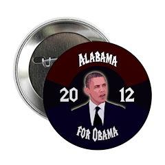Alabama for Obama 2012 campaign button