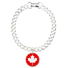 Canadian Flag Charm Bracelet, One Charm