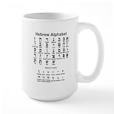 Hebrew Alphabet Ceramic Mugs