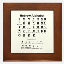 Hebrew Alphabet Framed Tile