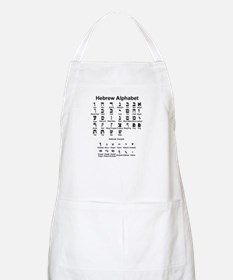 Hebrew Alphabet Apron