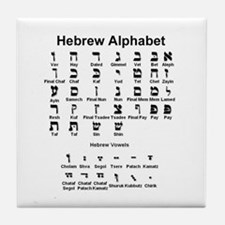 Hebrew Alphabet Tile Coaster