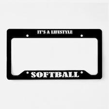 Softball Sports License Plate Holder Frame