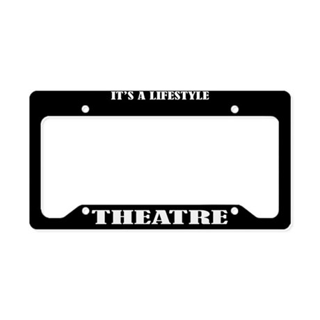Theatre Gift License Plate Holder Frame