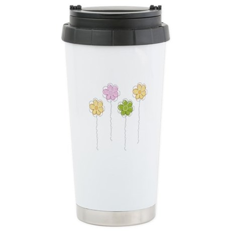 Summer Flowers Stainless Steel Travel Mug