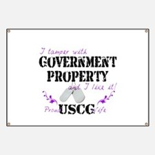 Tamper w Gov Property USCG Wife Banner