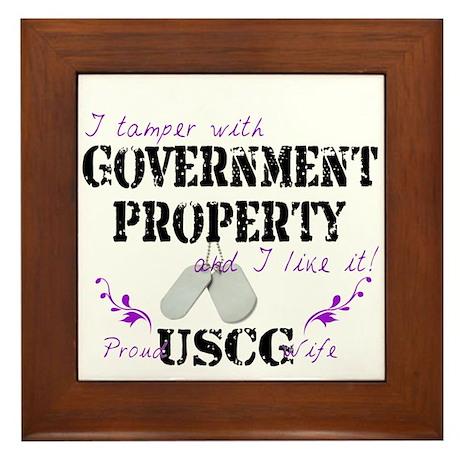 Tamper w Gov Property USCG Wife Framed Tile