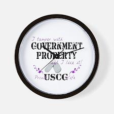 Tamper w Gov Property USCG Wife Wall Clock