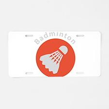 Unique Badminton Aluminum License Plate