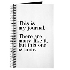 This one is mine. Journal