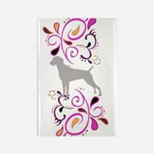 Summertime Weims-pinks Rectangle Magnet