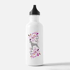 Summertime Weims-pinks Water Bottle