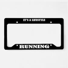 Running Sports License Plate Holder Frame