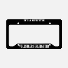Volunteer Firefighter License Plate Holder Frame
