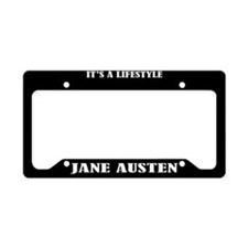 Jane Austen Gift License Plate Holder Frame