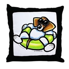 Funny Beagle Throw Pillow