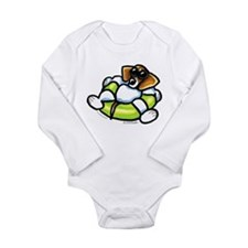 Funny Beagle Long Sleeve Infant Bodysuit