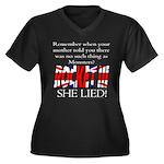 Monsters! Women's Plus Size V-Neck Dark T-Shirt