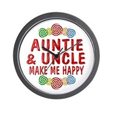 Auntie Uncle Happiness Wall Clock