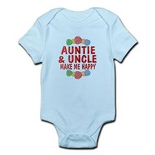Auntie Uncle Happiness Infant Bodysuit