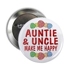 "Auntie Uncle Happiness 2.25"" Button"