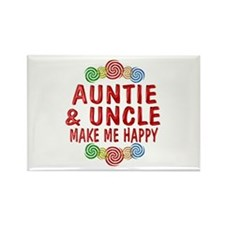Auntie Uncle Happiness Rectangle Magnet (100 pack)