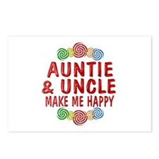 Auntie Uncle Happiness Postcards (Package of 8)