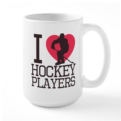 Hockey Players Large Mug