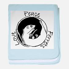Peace, Love & Ferrets baby blanket