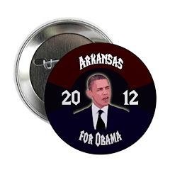 Arkansas for Obama 2012 campaign button