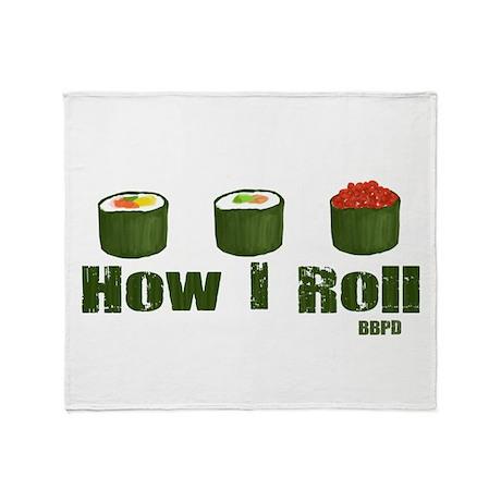 How I Roll (sushi) Throw Blanket