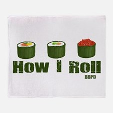How I Roll (sushi) Throw Blanket