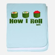 How I Roll (sushi) baby blanket