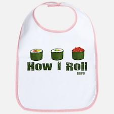 How I Roll (sushi) Bib