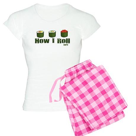 How I Roll (sushi) Women's Light Pajamas