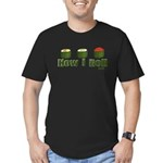 How I Roll (sushi) Men's Fitted T-Shirt (dark)
