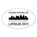 LipDub 2011 Sticker (Oval)
