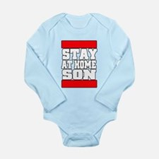 Stay at home Long Sleeve Infant Bodysuit