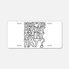 Monkey and Hat Aluminum License Plate