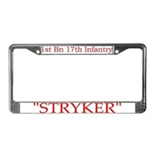 1st Bn 17th Infantry License Plate Frame