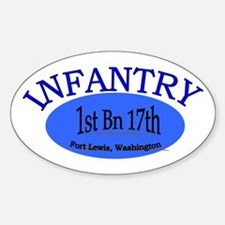 1st Bn 17th Infantry Sticker (Oval)